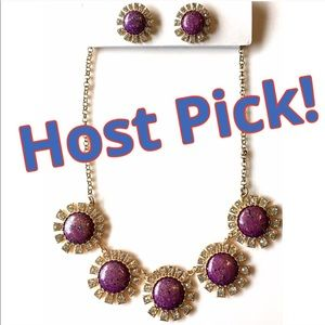 Handcrafted Statement Necklace Rhinestone NWT New